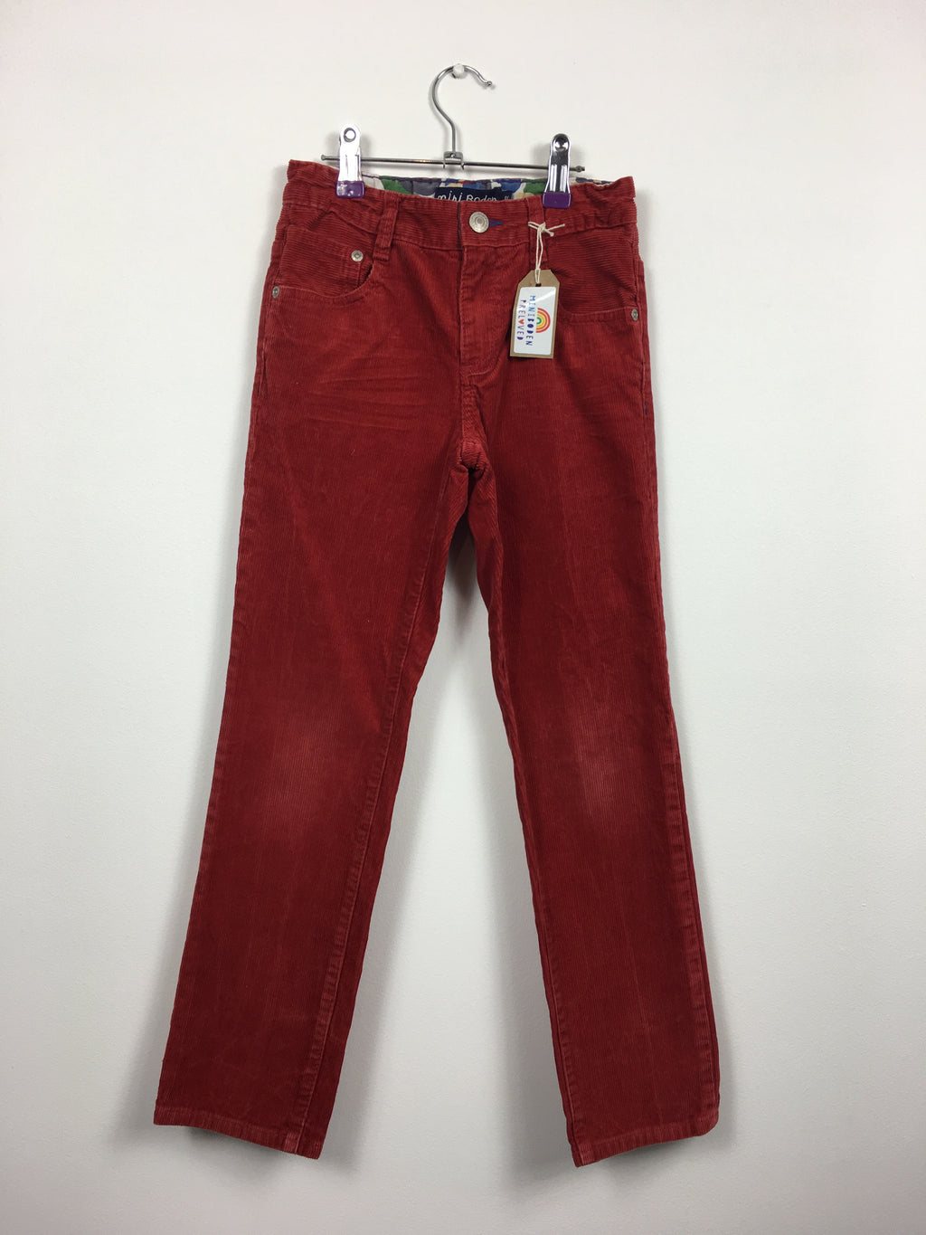 Red Straight Leg Cord Trousers (8 Years)