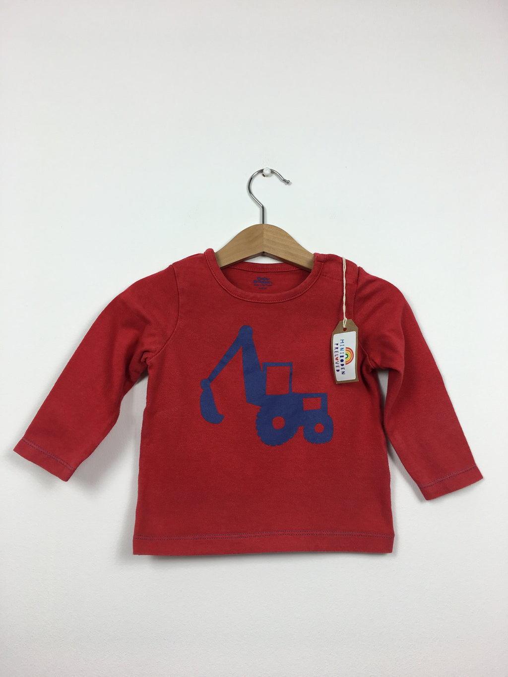 Red Digger Print Top (6-12 Months)