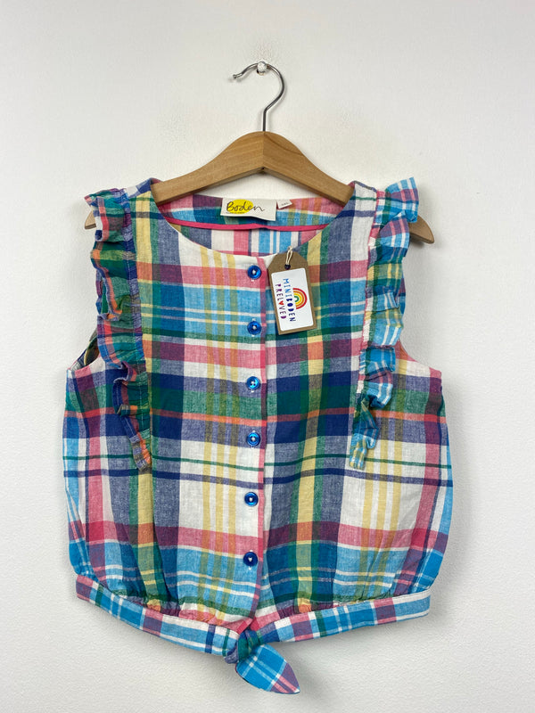 Multicoloured Brushed Cotton Tartan Blouse (7-8 Years)
