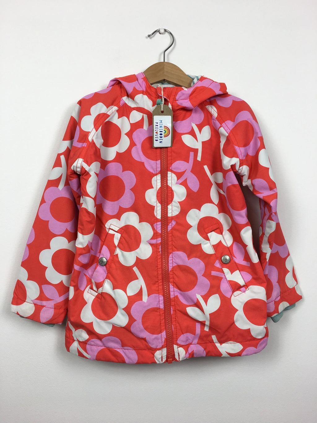 Pink & Red Retro Flower Jacket (4-5 Years)