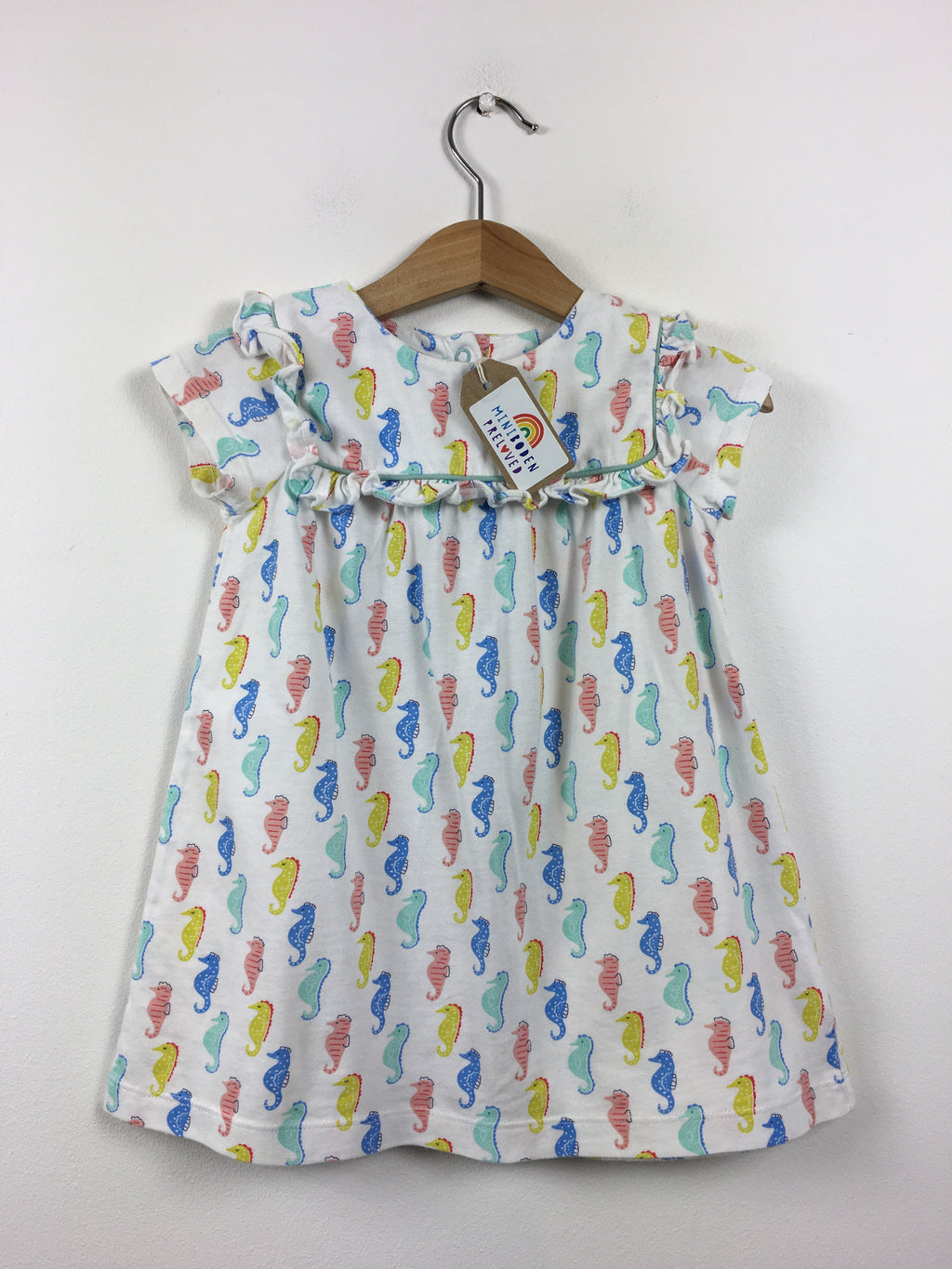 Lovely Button Up Seahorse Print Dress (12-18 Months)
