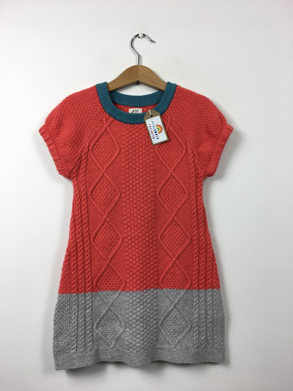 Colour Block Knitted Dress (3-4 Years)