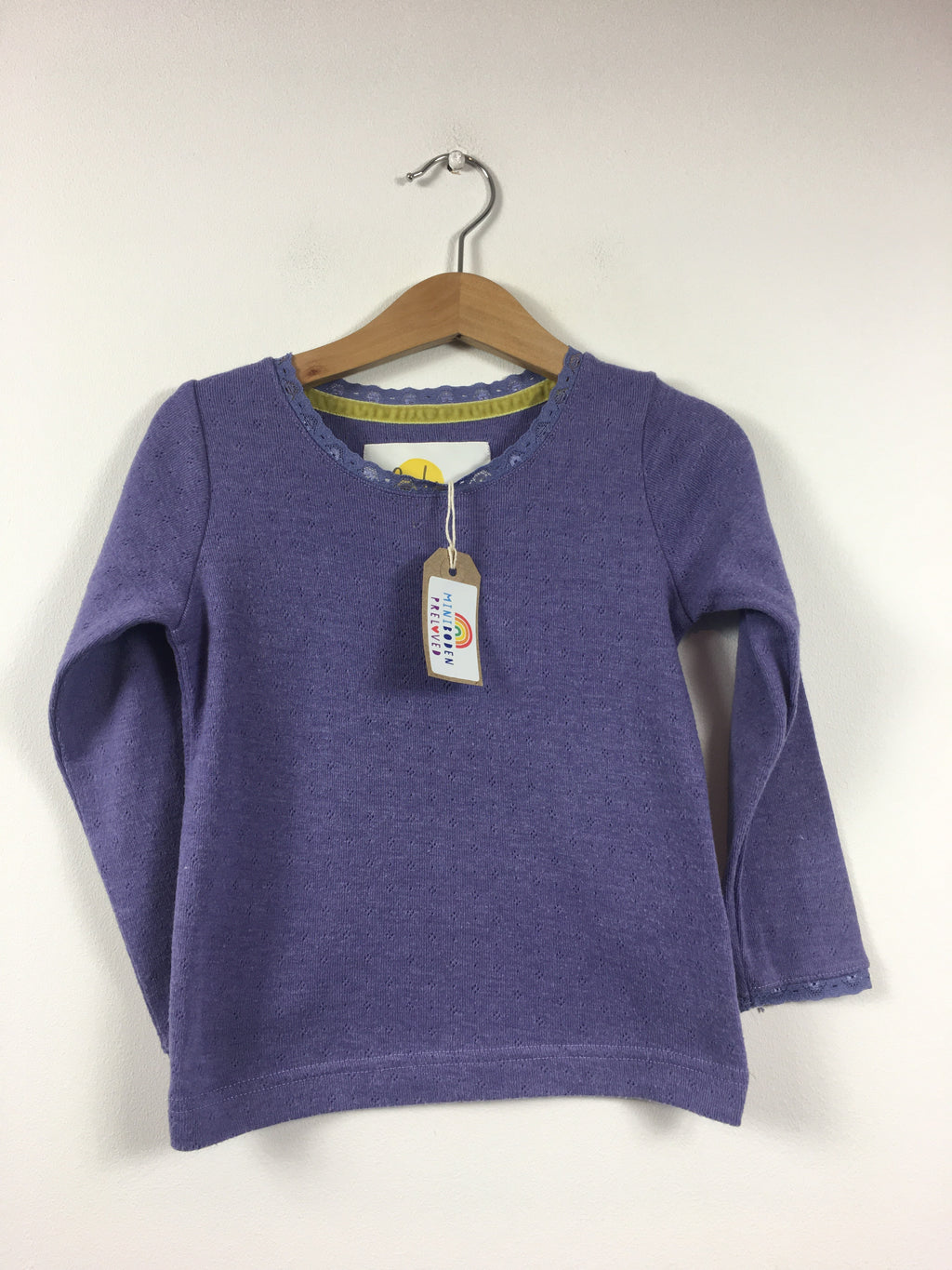 Soft Purple Pointelle Top (3-4 Years)