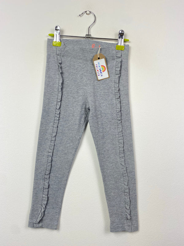 Grey Ruffle Party Leggings (3-4 Years)