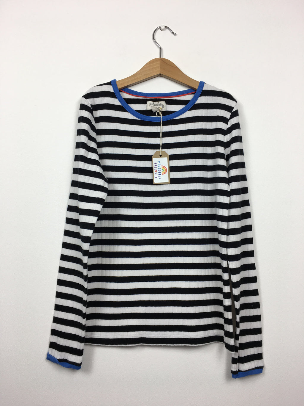 Black & White Stripy Ribbed Top (11-12 Years)