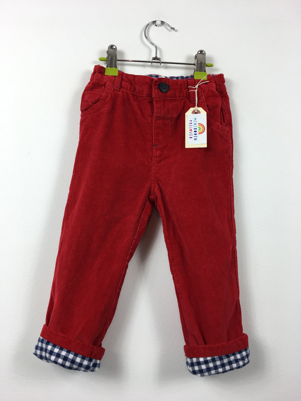 Lined Red Cord Trousers (2-3 Years)