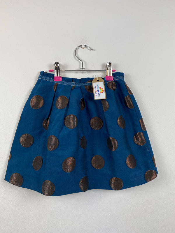 Bronze Spots Blue Party Skirt (6-7 Years)