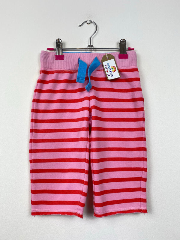Raspberry Stripe Jogger Capris (4 Years)