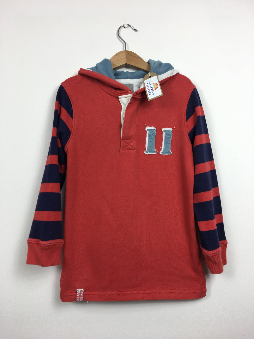 Red Hooded Rugby Jumper (5-6 Years)