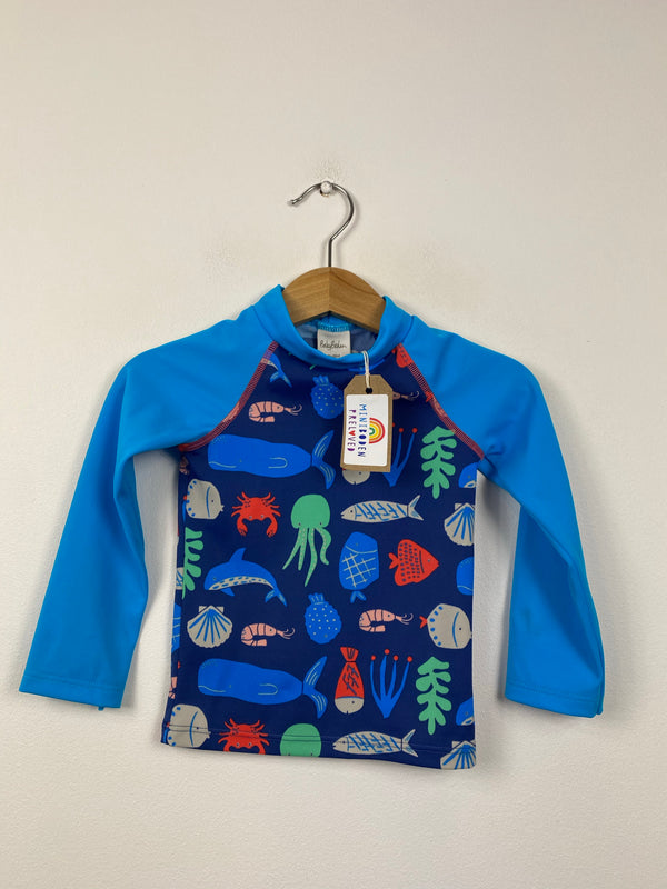 Blue Sealife UV Swim Top (12-18 Months)