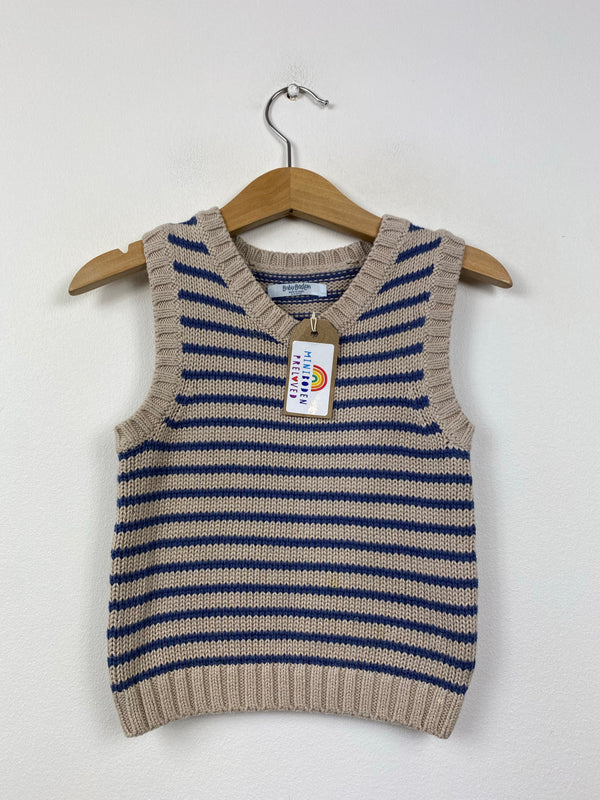 Stripy Knitted Tank Top (6-12 Months)
