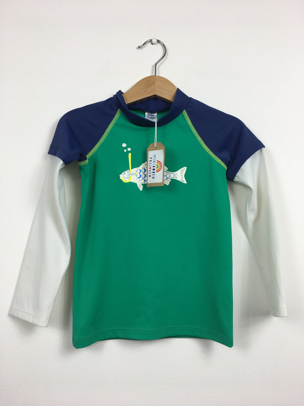 Green Fish Print Rash Vest (2-3 Years)