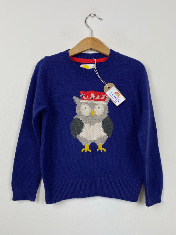 Blue Owl Knitted Jumper (5-6 Years)