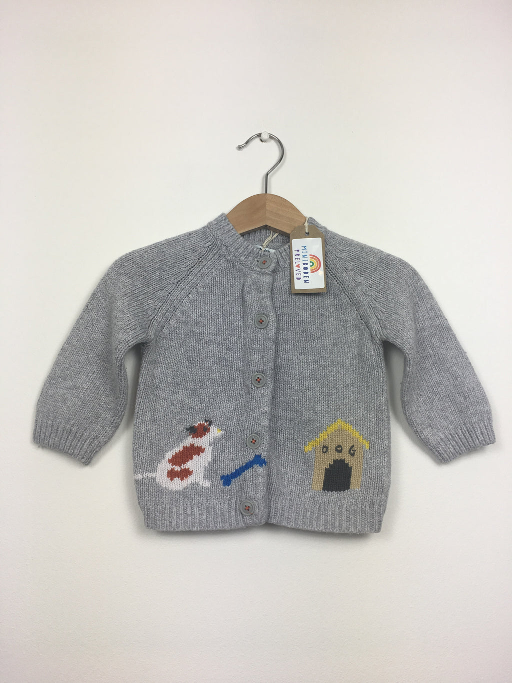 Dog Knitted Grey Cardigan (6-12 Months)