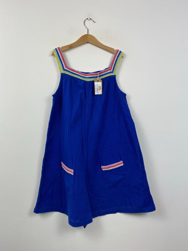 Blue Playsuit With Rainbow Crochet Straps (11-12 Years)