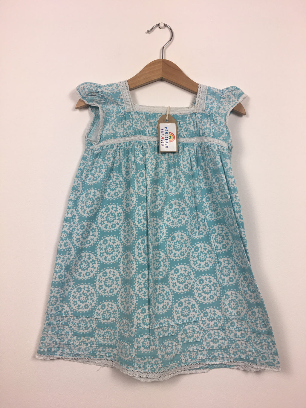 Light Blue Paisley Print Dress (2-3 Years)
