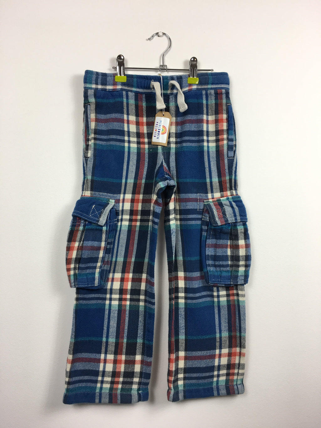 Blue/Red Checked Tartan Baggies (Age 6)