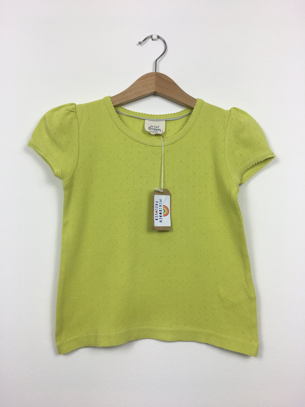 Yellow Pointelle Top (5-6 Years)