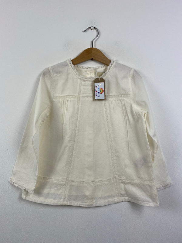 Cream Occasion Blouse (5-6 Years)
