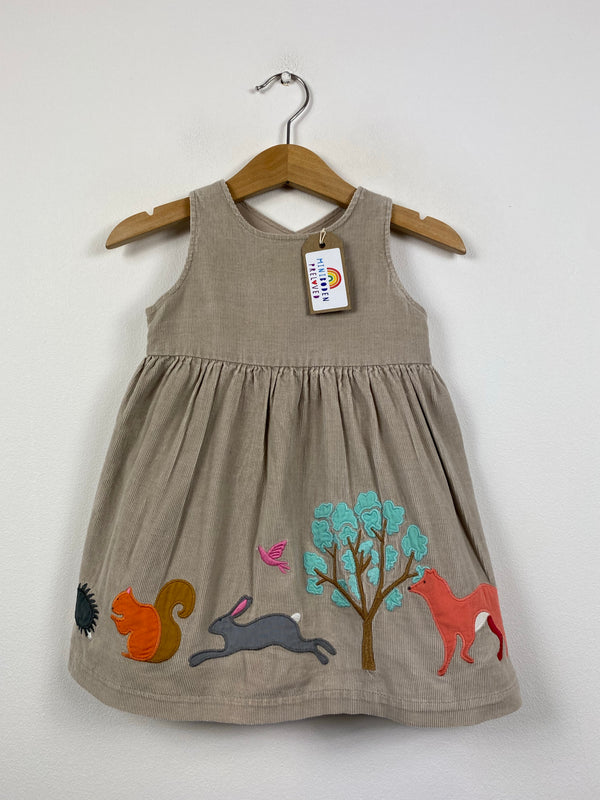 Beautiful Applique Woodland Animals Pinafore Dress (6-12 Months)