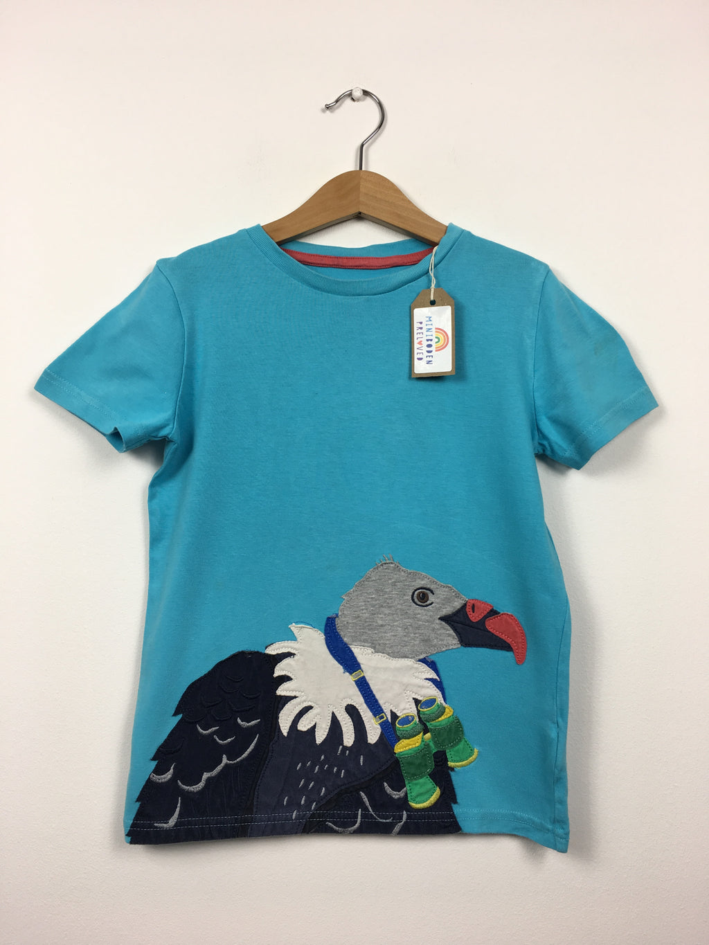 Blue Appliqué Vulture T-Shirt (6-7 Years)