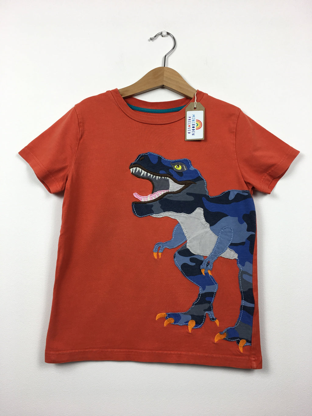 Red Appliqué T-Rex T-Shirt (6-7 Years)