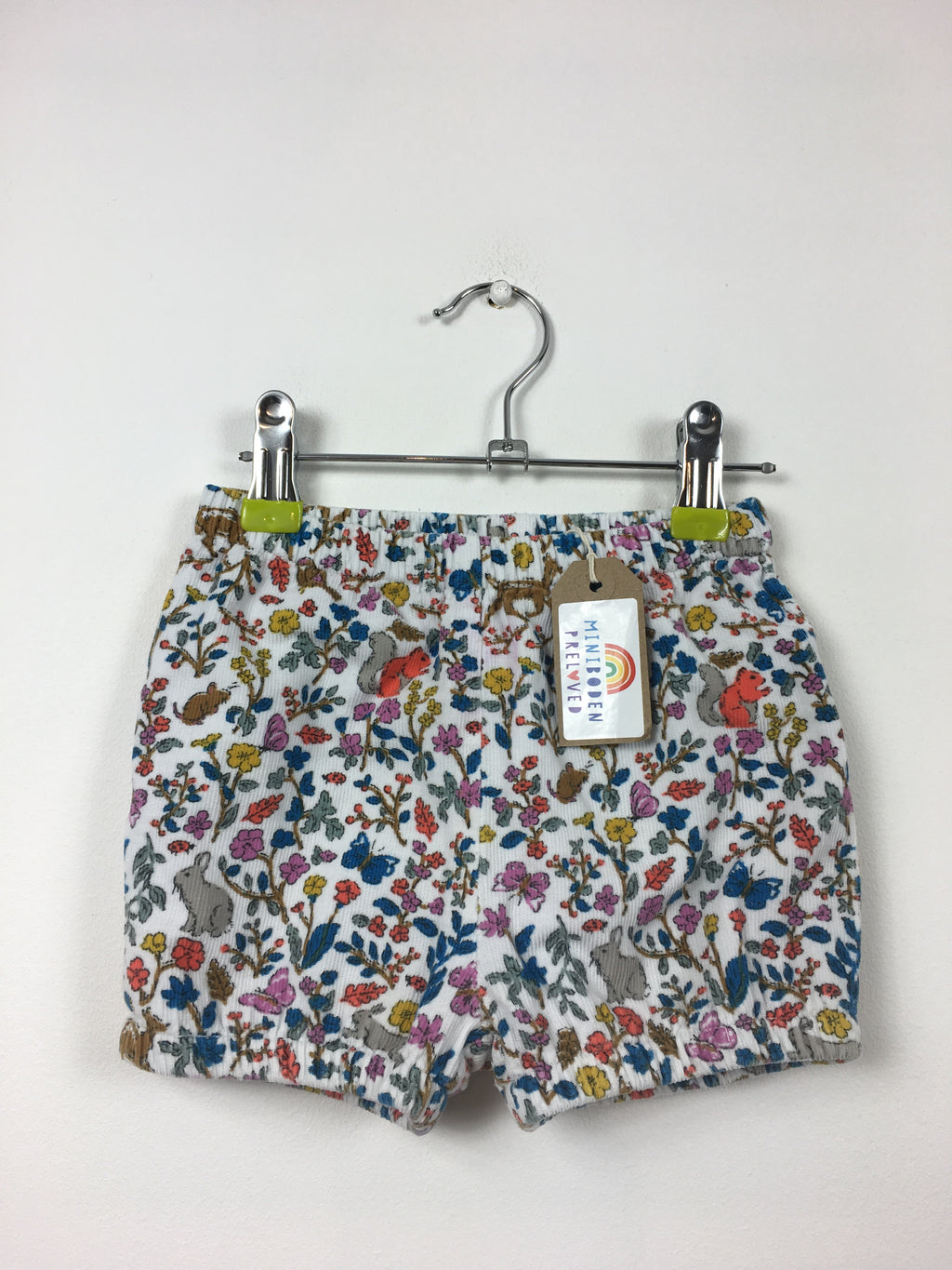 Woodland Print Cord Shorts (12-18 Months)