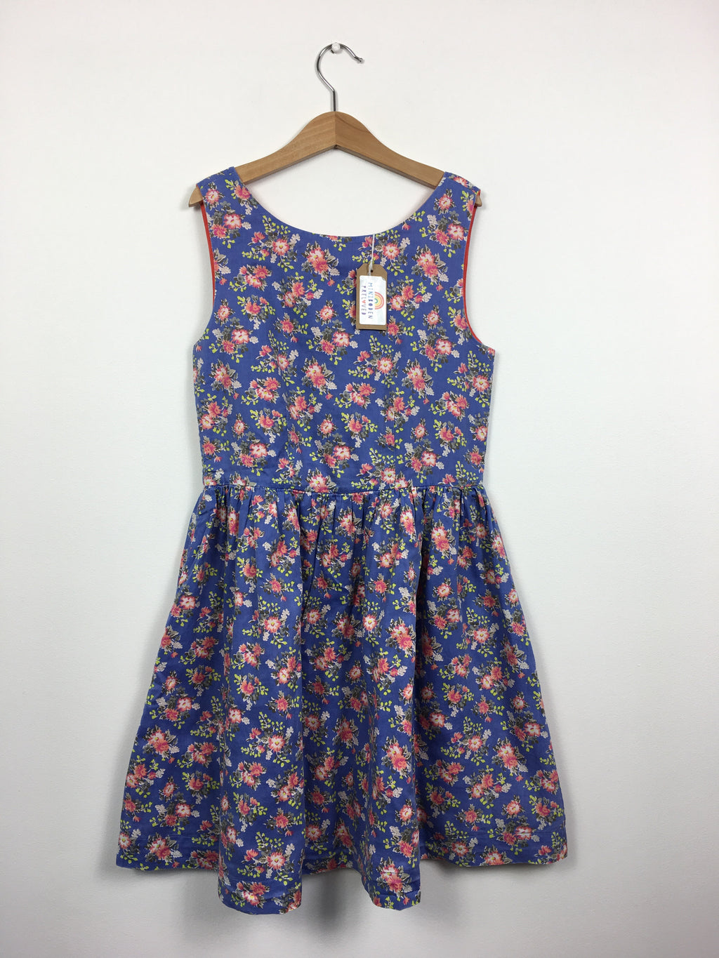 Blue Floral Sundress (11-12 Years)