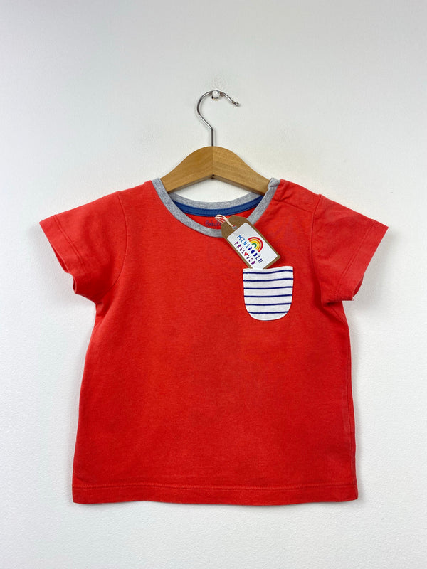 Red Everyday Short Sleeved Top (12-18 Months)