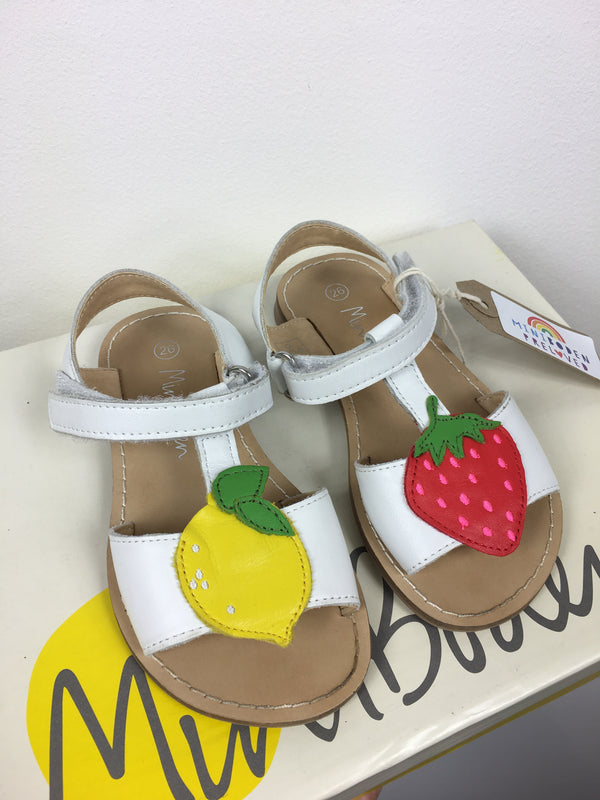 Pretty Lemon and Strawberry Design Sandals (Infant Size - 26)