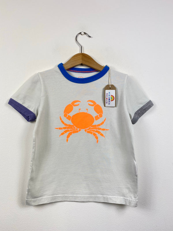 Neon Crab White T-Shirt (3-4 Years)