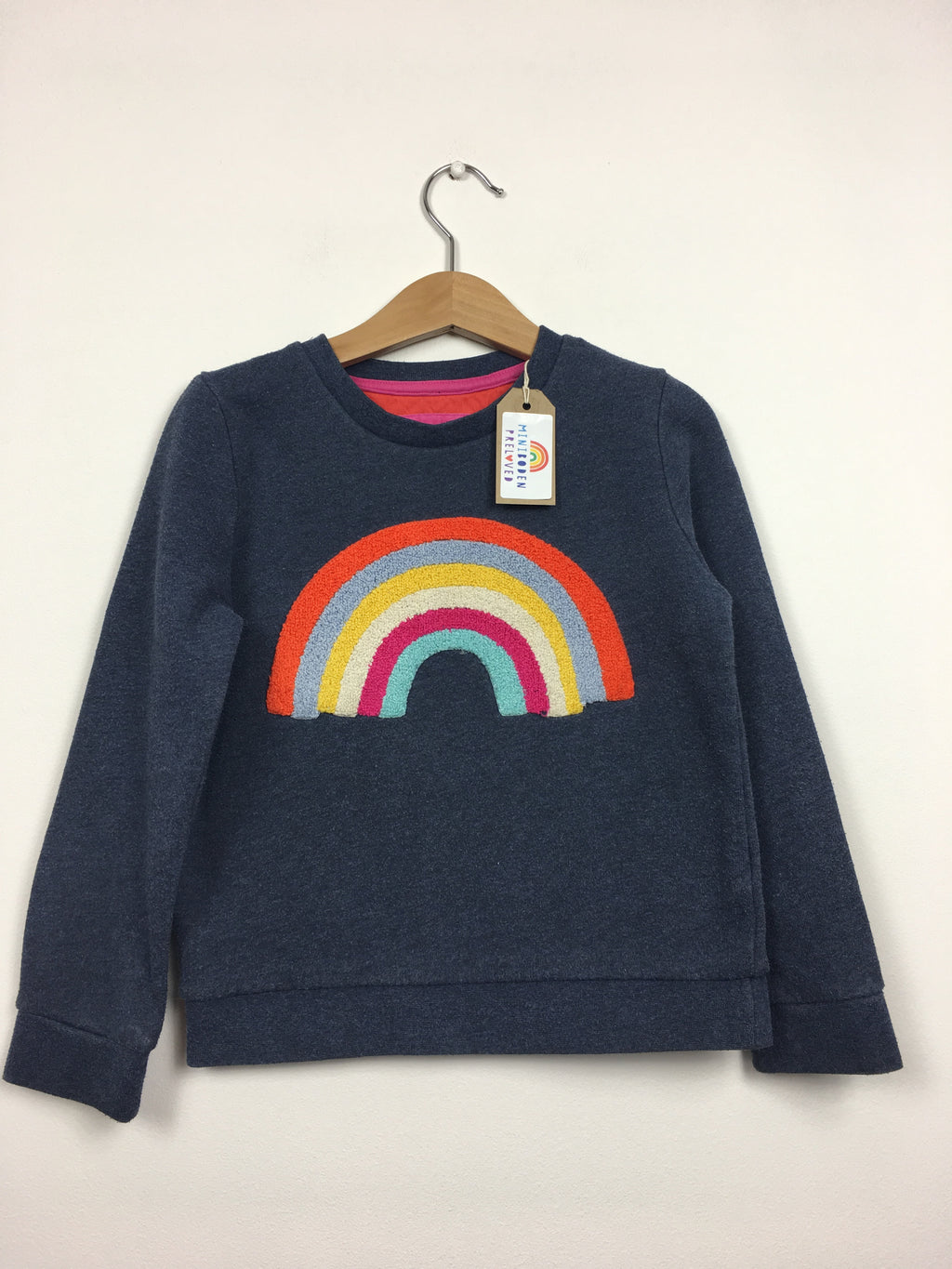 Embroidered Rainbow Blue Jumper (4-5 Years)