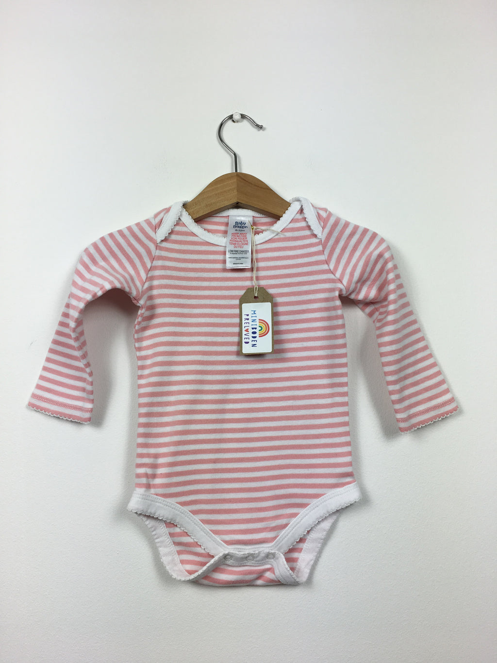 Pretty Pink Stripy Vest Top (6-12 Months)