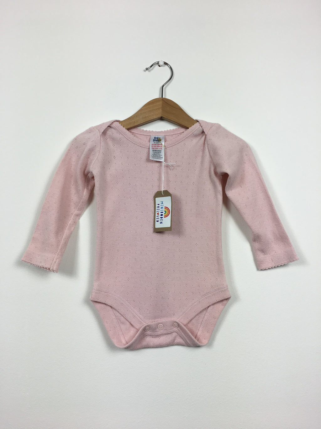 Pink Pointelle Vest Top (Age 6-12 Months)