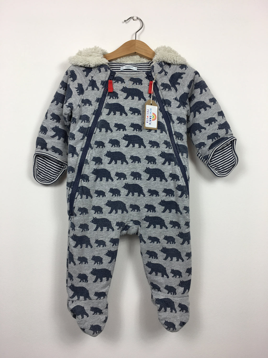 Bear Print Cotton Snowsuit (6-12 Months)