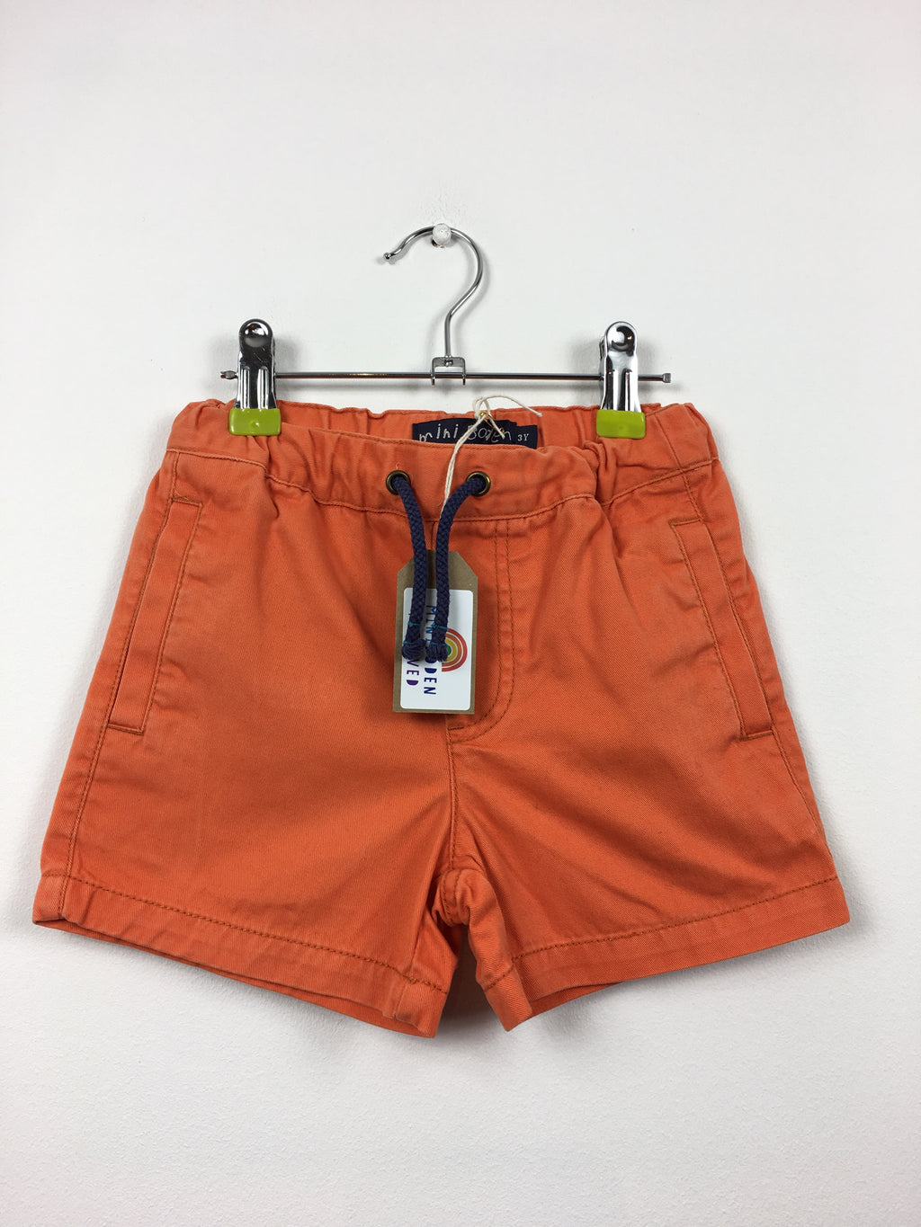 Orange Thick Cotton Shorts (3 Years)