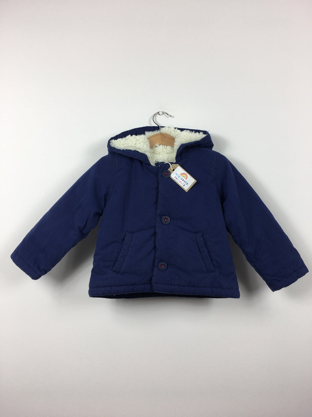 Navy Blue Fluffy Lined Jacket (2-3 Years)
