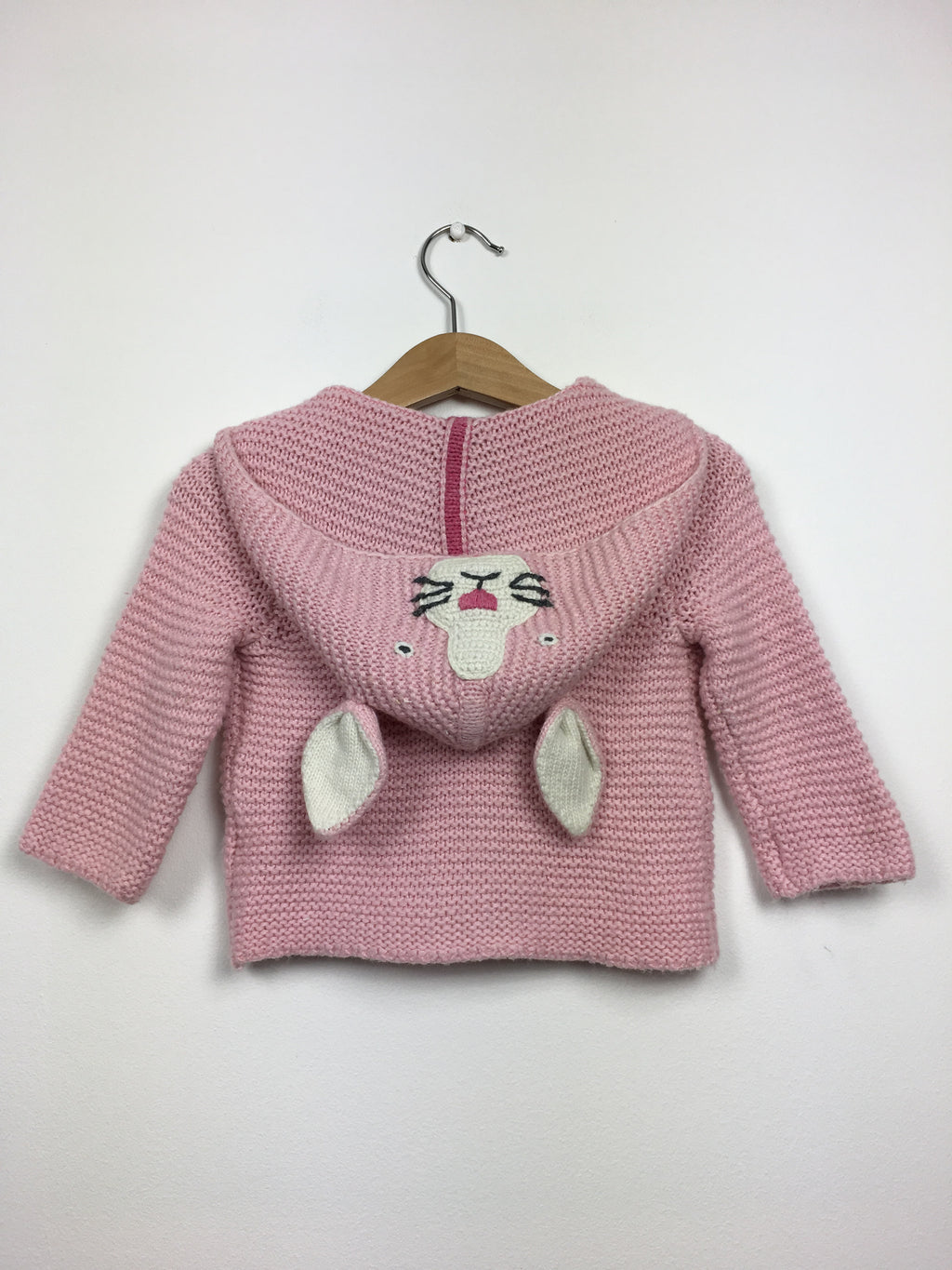 Knitted Rabbit Hooded Cardigan (0-3 Months)