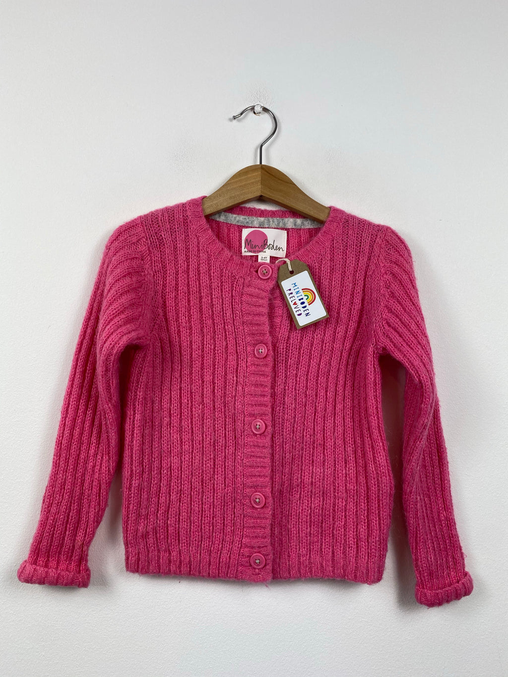 Bubblegum Pink Knitted Cardigan (3-4 Years)