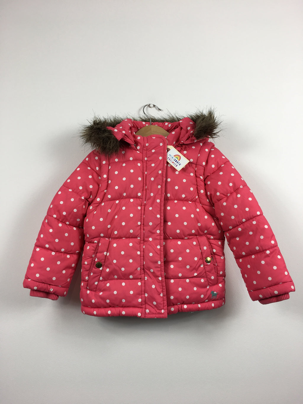 Coral Spotty 2in1 Padded Jacket (2-3 Years)