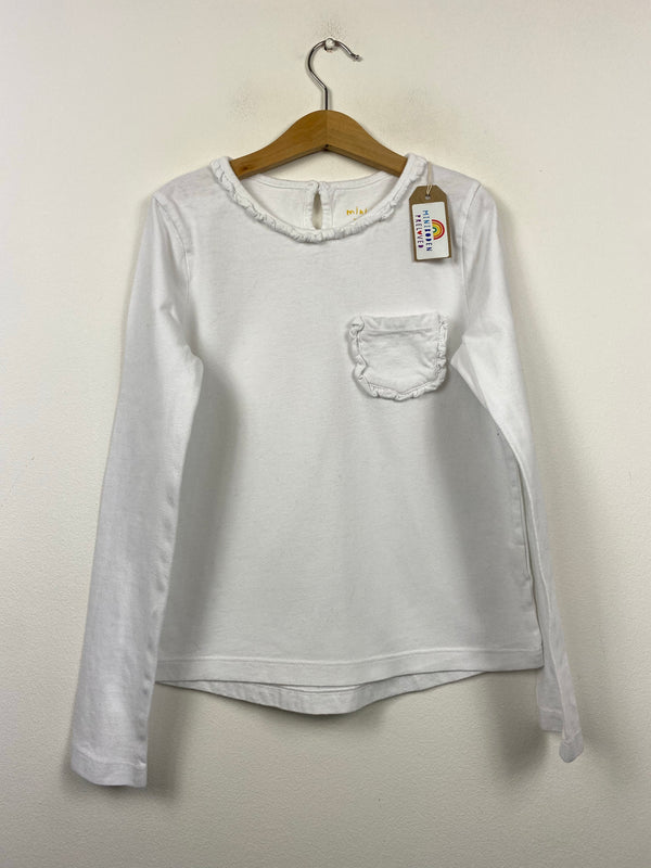 Everyday White Long Sleeved Top (9-10 Years)