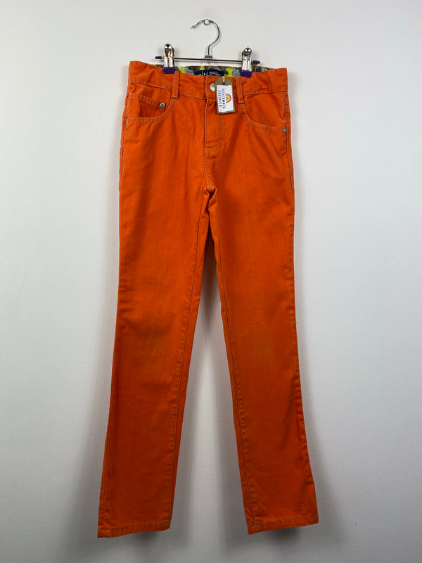 Orange Slim Leg Jeans (10 Years)