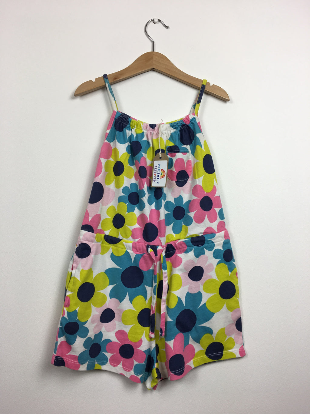 Retro Flower Print Playsuit (7-8 Years)