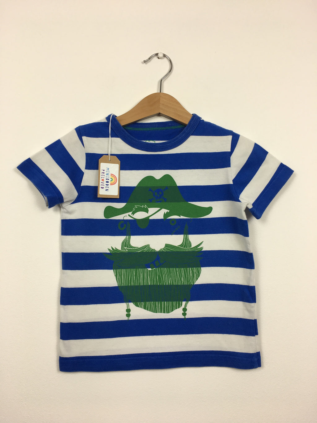 Blue Stripy Pirate Print T-Shirt (2-3 Years)
