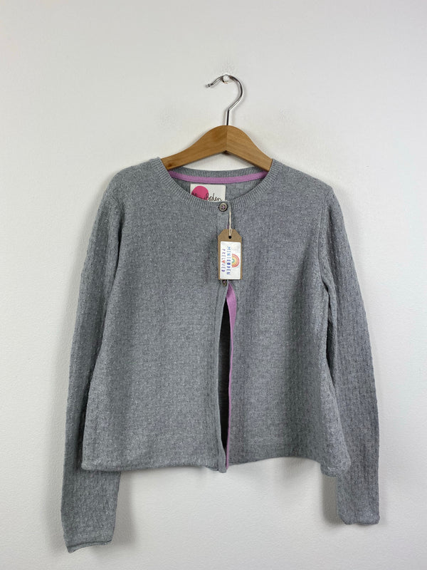 Detailed Grey Occasion Cardigan (7-8 Years)