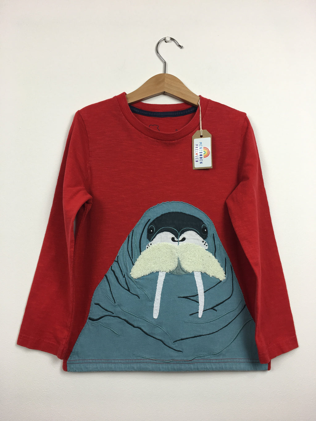 Appliqué Sea Lion Red Top (6-7 Years)