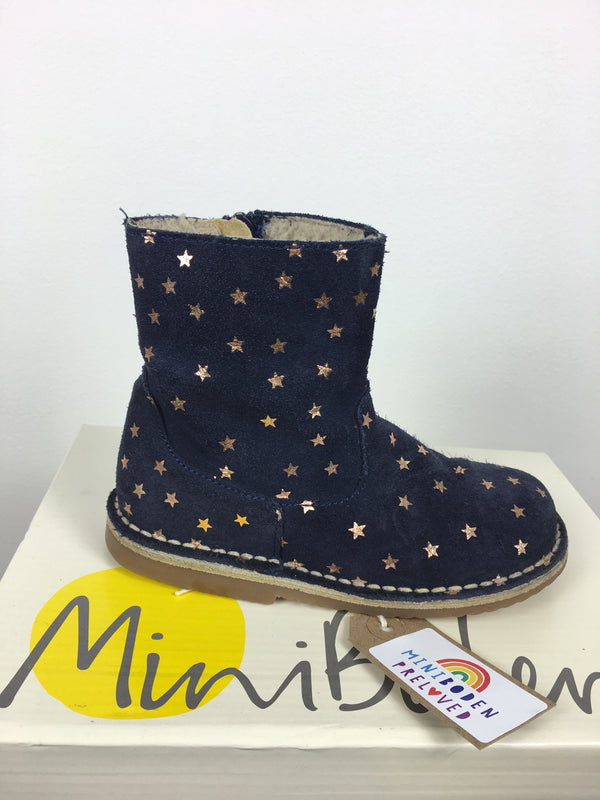 Metallic Gold Star Design Short Boots Size 27 (UK 9)