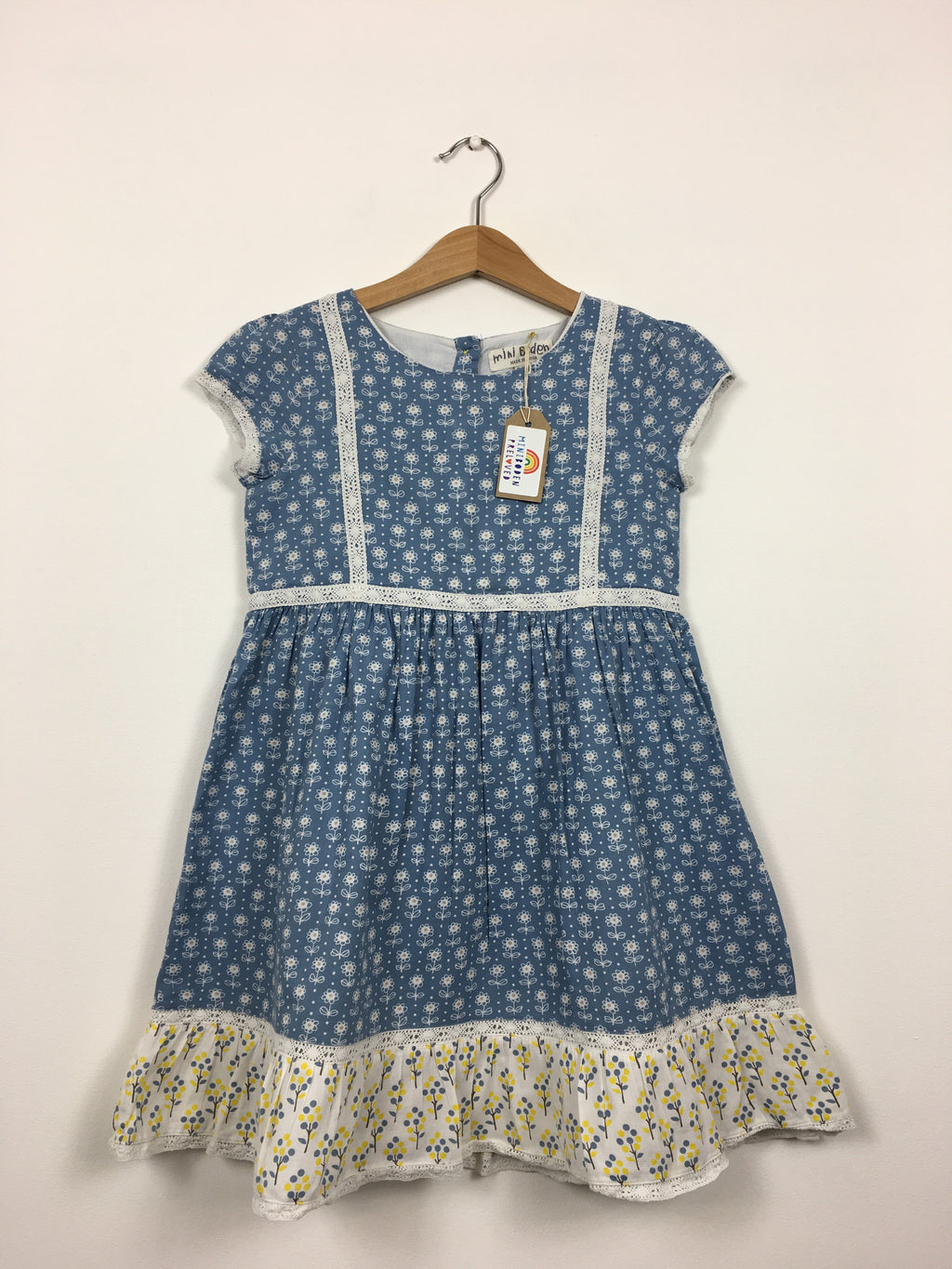 Blue Floral Dress (7-8 Years)