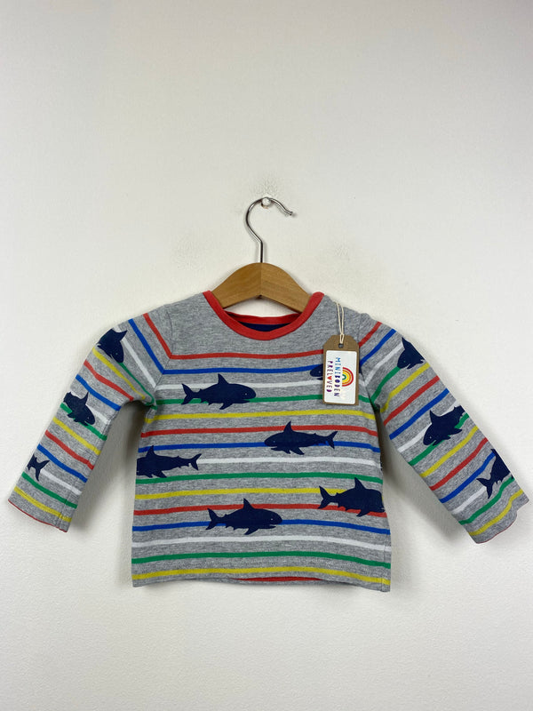 Stripy Shark Patterned Top (3-6 Months)
