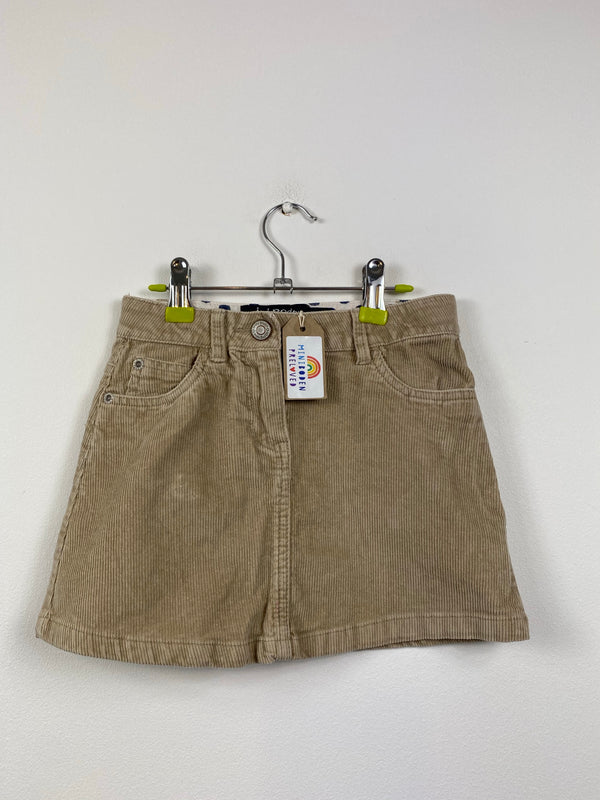 Fawn Coloured Cord Skirt (5-6 Years)